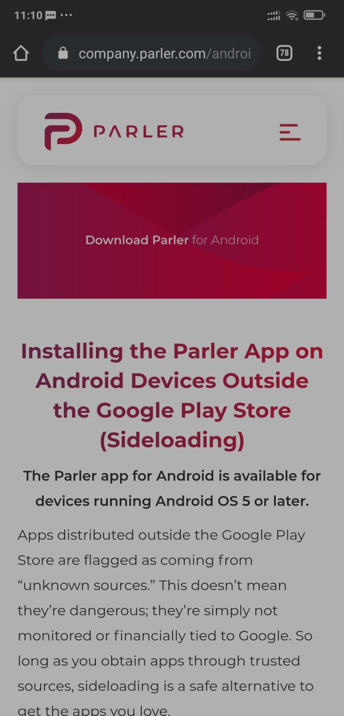 How To Dowload And Install Parler App After The Play Store Ban 2021