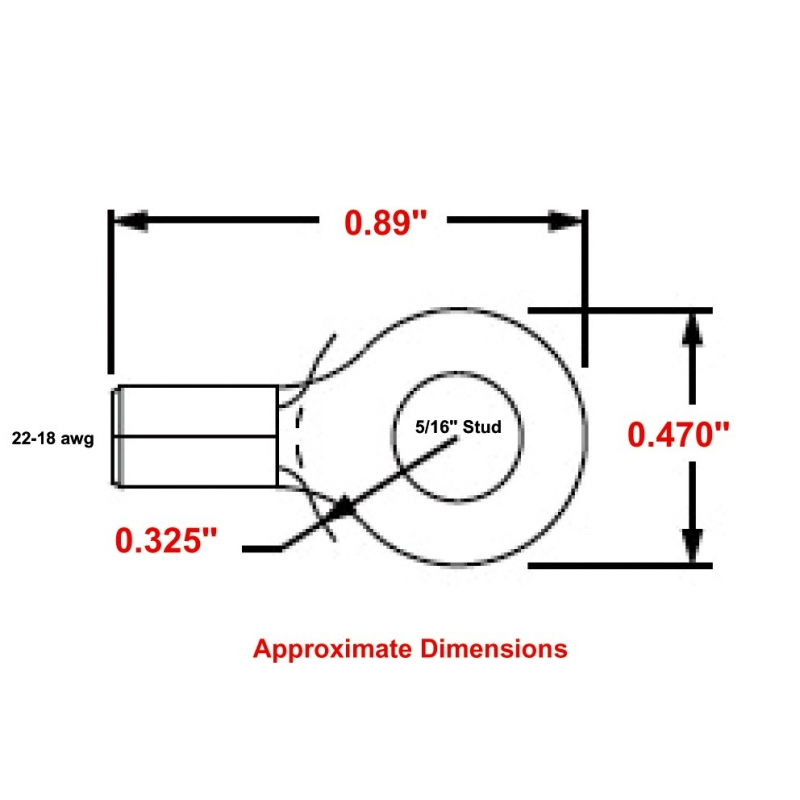 CS130-56 High Temperature Ring Terminals
