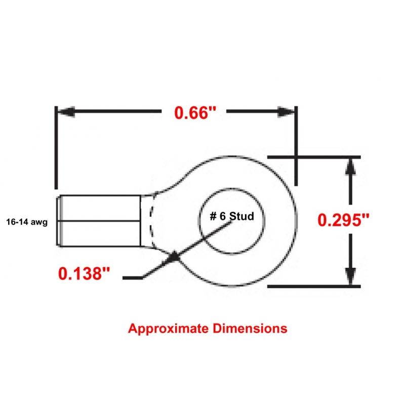 P14-6RHT6 High Temperature Ring Terminals MU14-6RHT