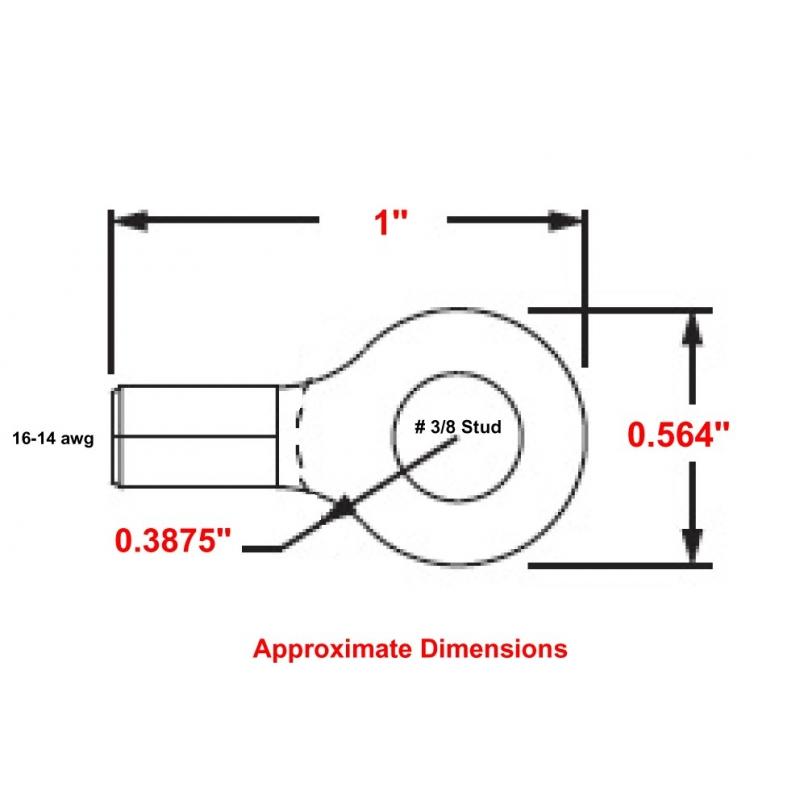 MU14-38RHT HIGH TEMPERATURE RING TERMINAL R9B-38S