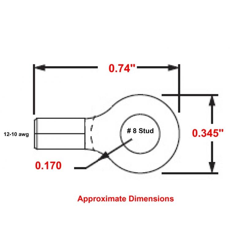 P10-8RHT HIGH TEMPERATURE RING TERMINAL R9C-8
