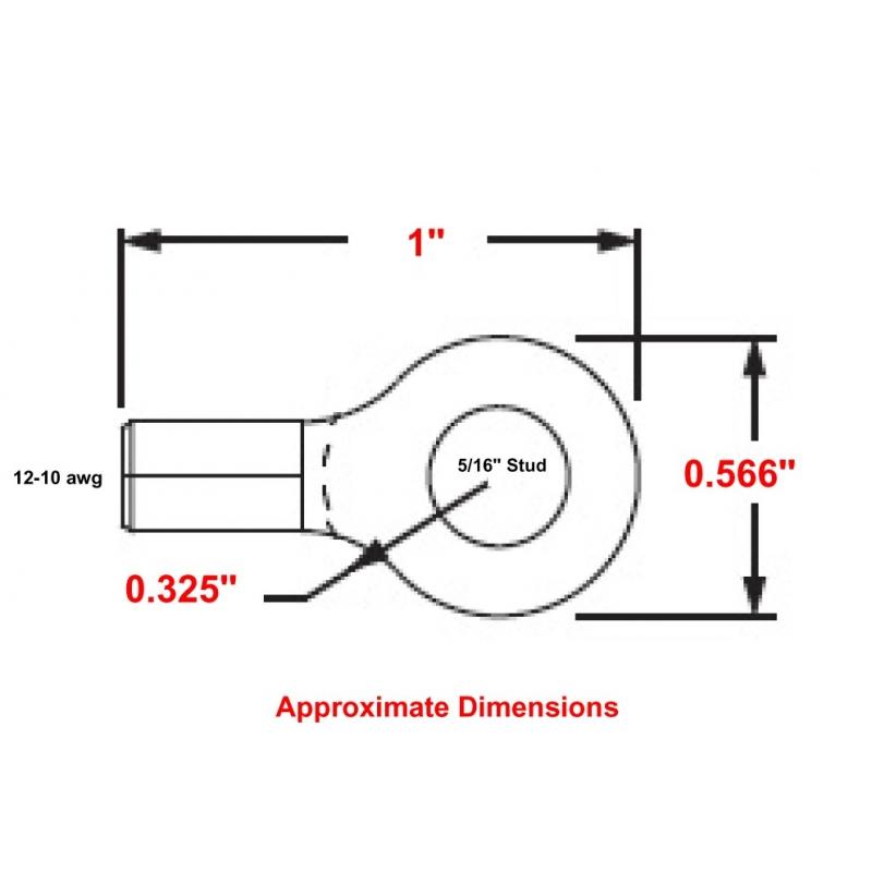 R9C-56 HIGH TEMPERATURE RING TERMINAL