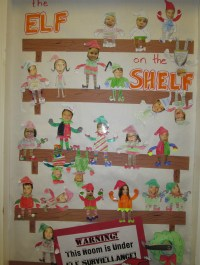 Our Class Elf on a Shelf Door Decorations | Mr. Ogren ...