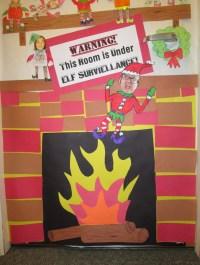 Our Class Elf on a Shelf Door Decorations | Mr. Ogren ...