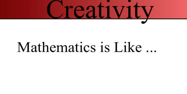 Math is Like...