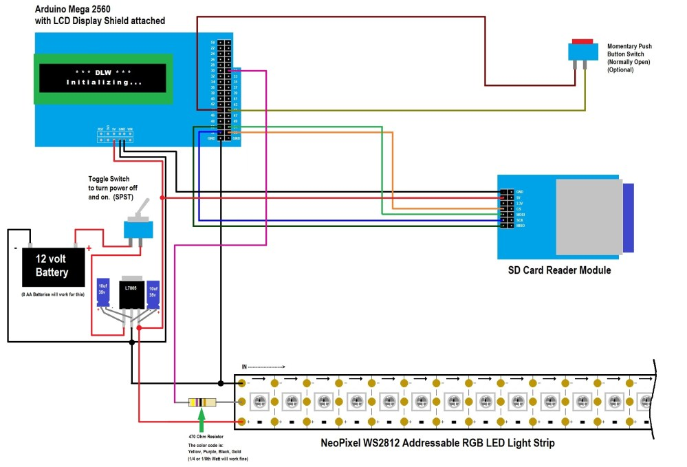 medium resolution of 1 click here to download the wiring diagram for the neopixel ws2812 digital light wand