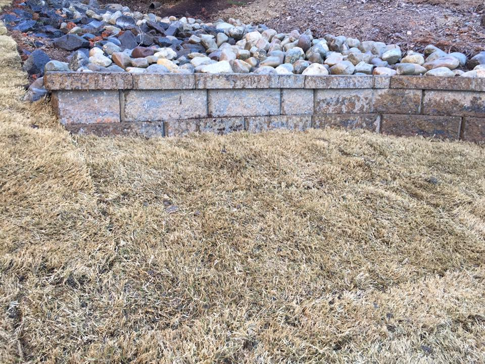 Retaining wall to help prevent erosion