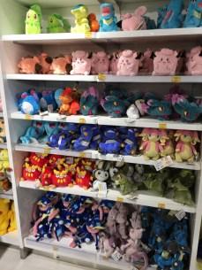Shelves and shelves of Pokémon