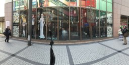 Stores lined with Final Fantasy XV characters