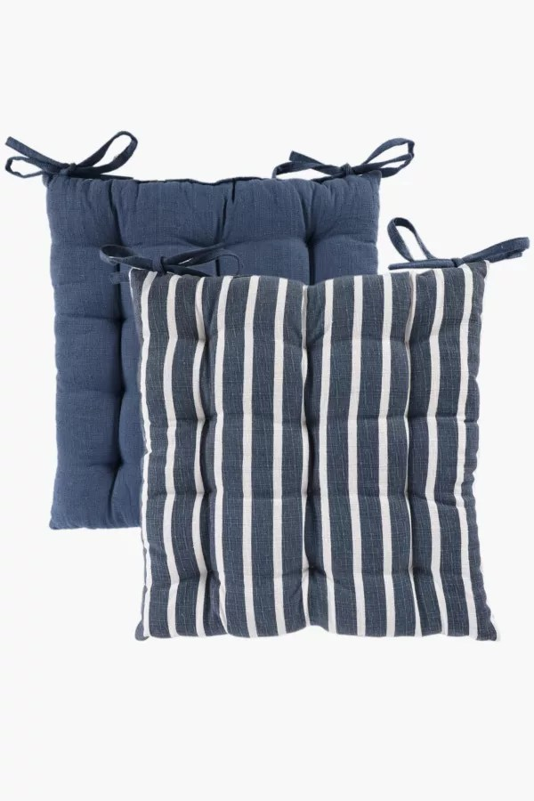 chair cushion cover office caster buy cushions covers inners online living room mrp home 2 pack parma stripe pad 40x40cm