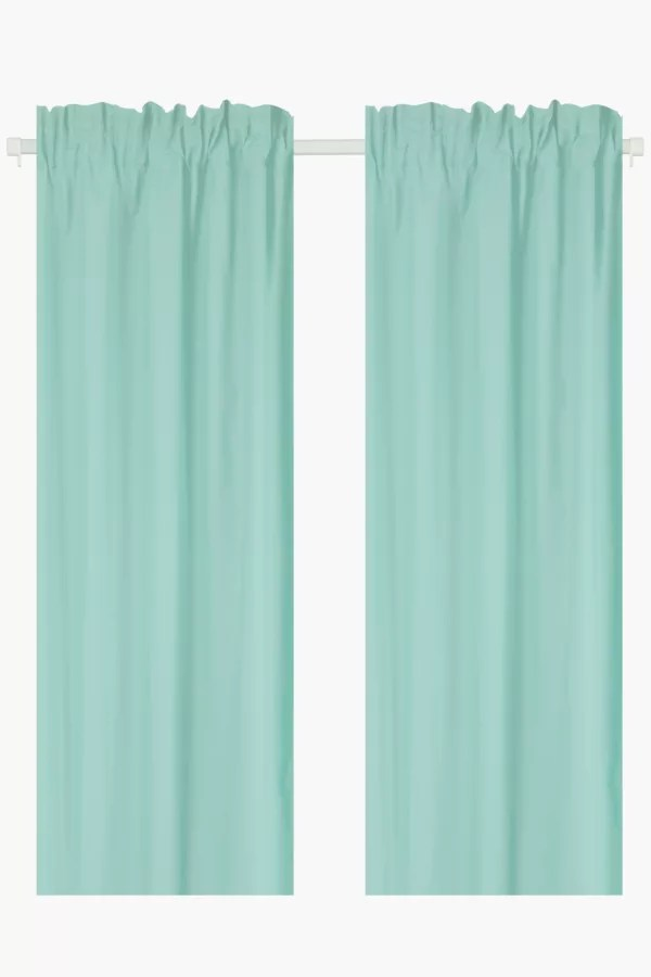 2 pack microfibre taped curtain 150x218cm bedroom curtains shop b