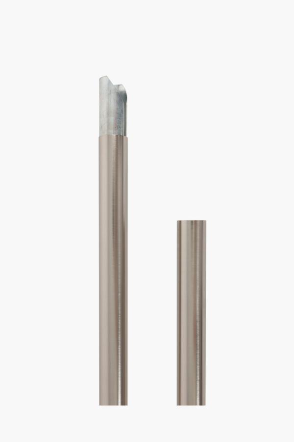3 piece 3m brushed silver rod set 35mm curtain accessories shop l