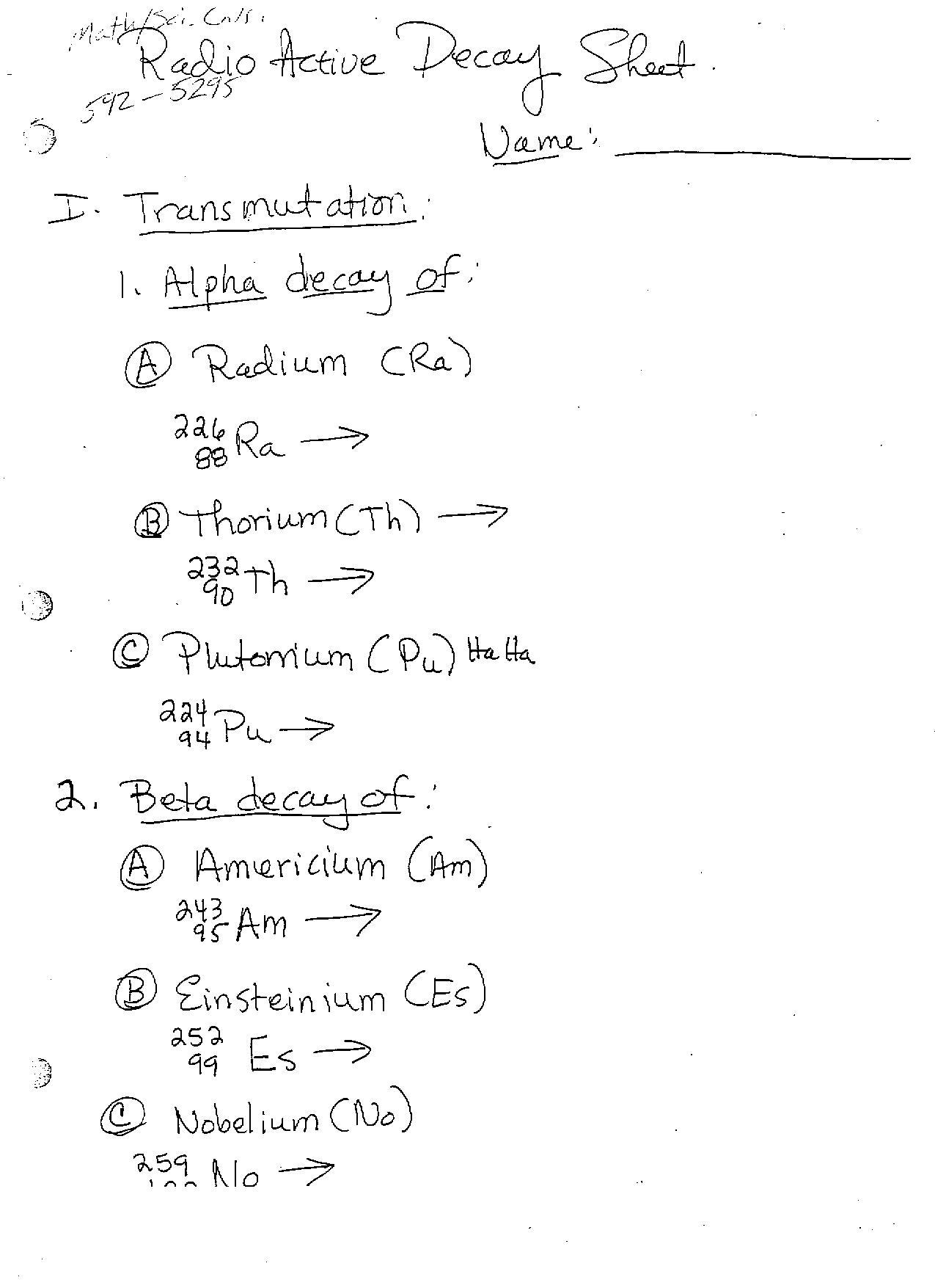 Chemistry Ib