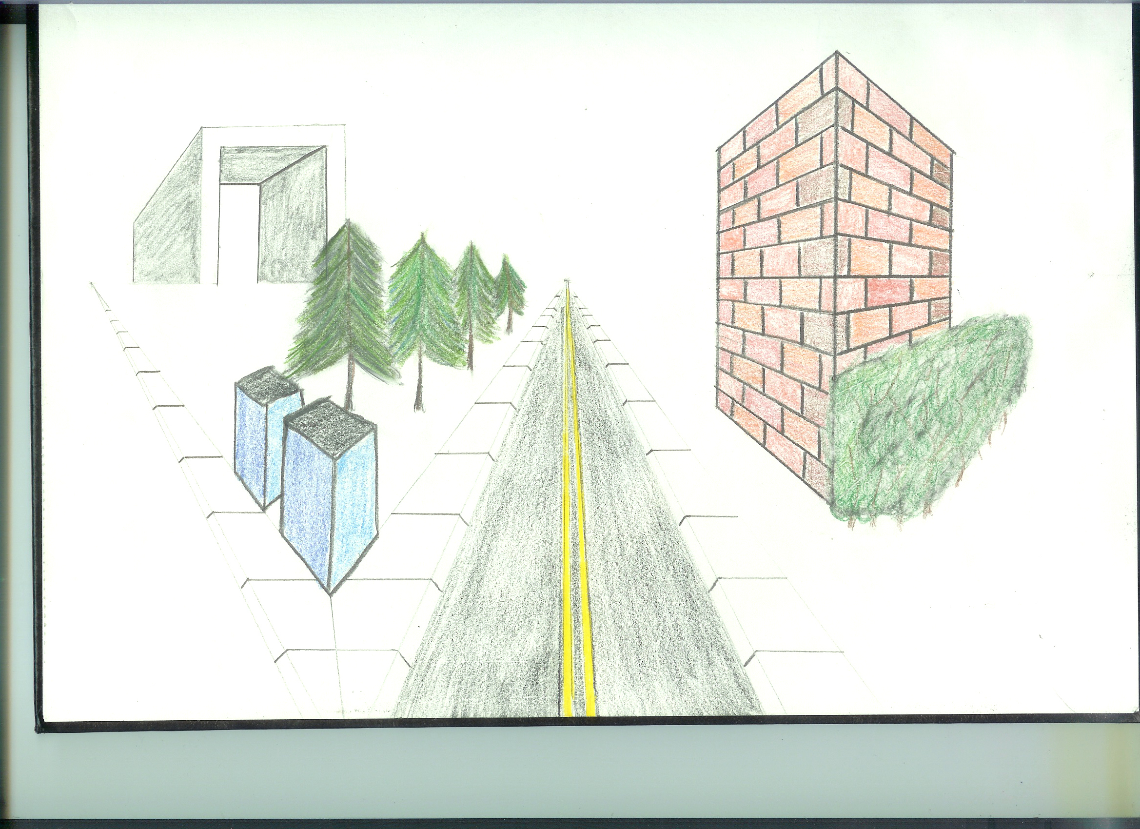 Art Meets Geometry Two Point Perspective Drawing