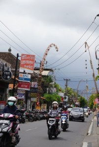 Busy streets of Bali
