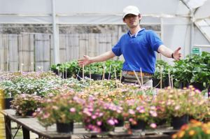 Nishikawa-san with his Delosperma plants
