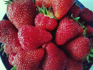 5 benefits of allotments: Beautiful strawberries