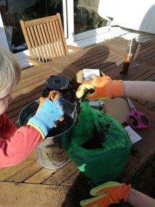 Plants for kids: Potting