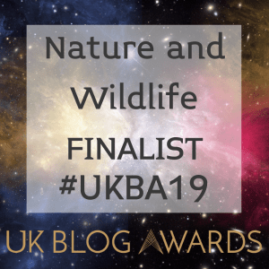 Nature and Wildlife Finalist UK Blog Awards 2019