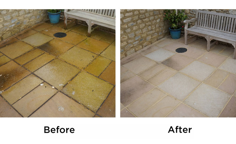 Wet & Forget Before and After: Patio