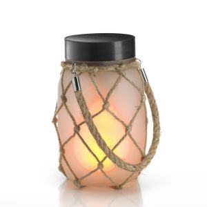 Garden lighting - solar jar with light