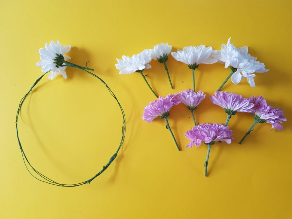 How to make a real flower crown - Step 2