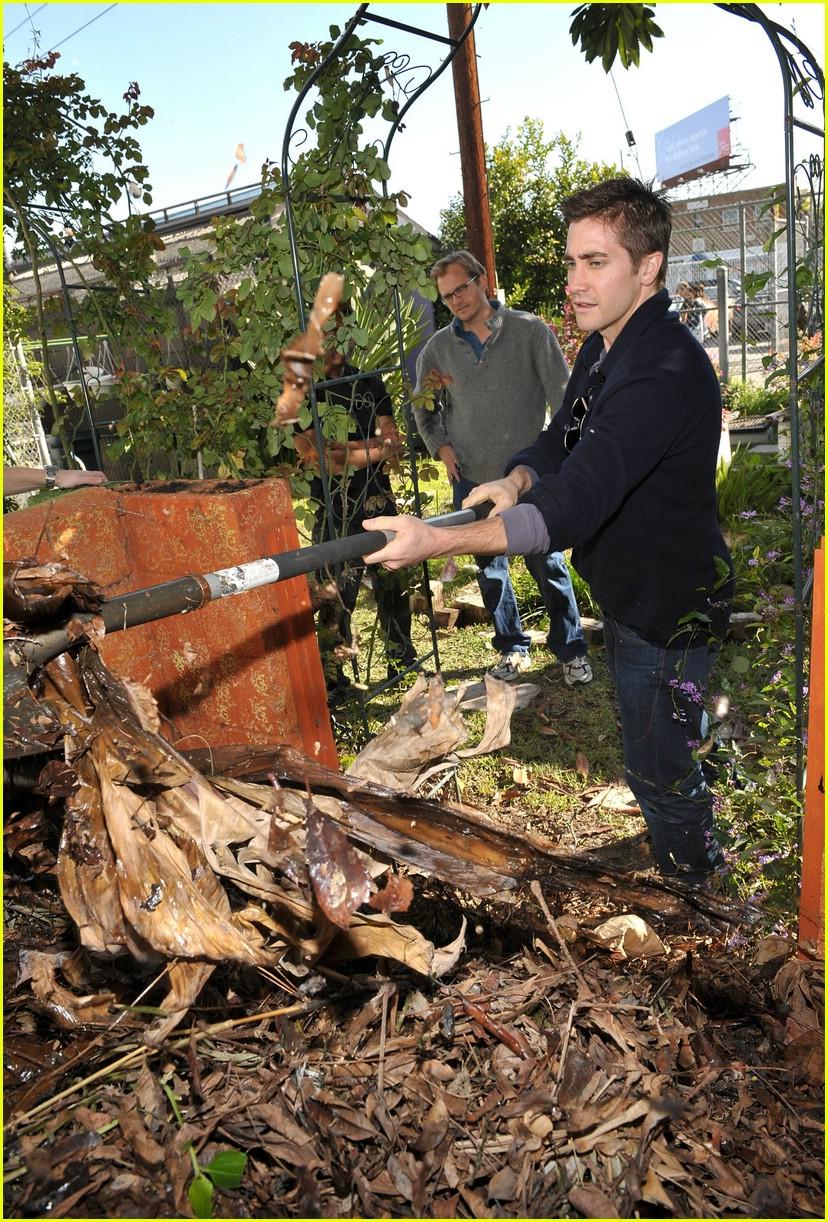 Jake Gyllenhaal gardening