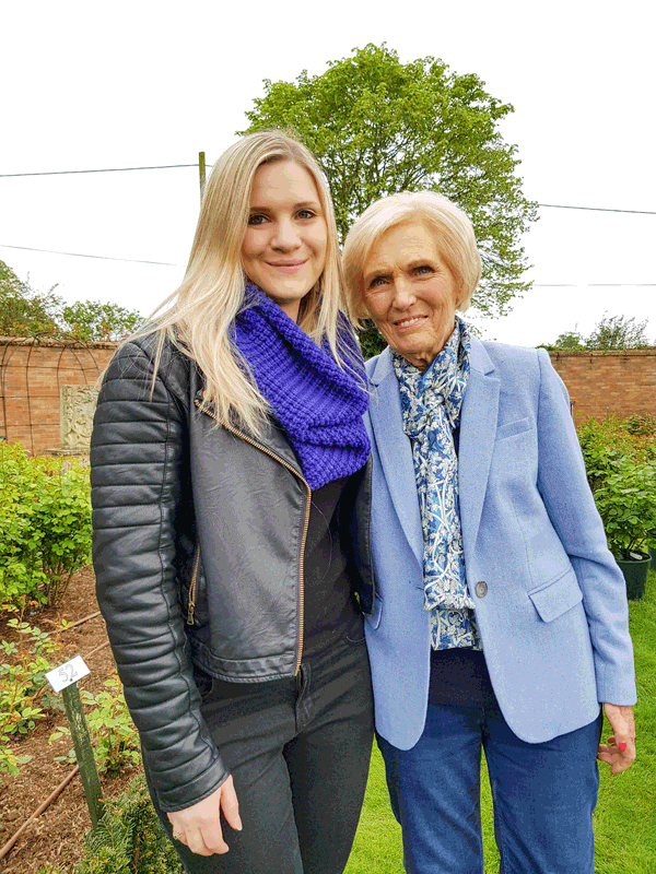Holly Daulby with Mary Berry
