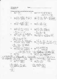 Pictures Calculus Limits Worksheet - Toribeedesign