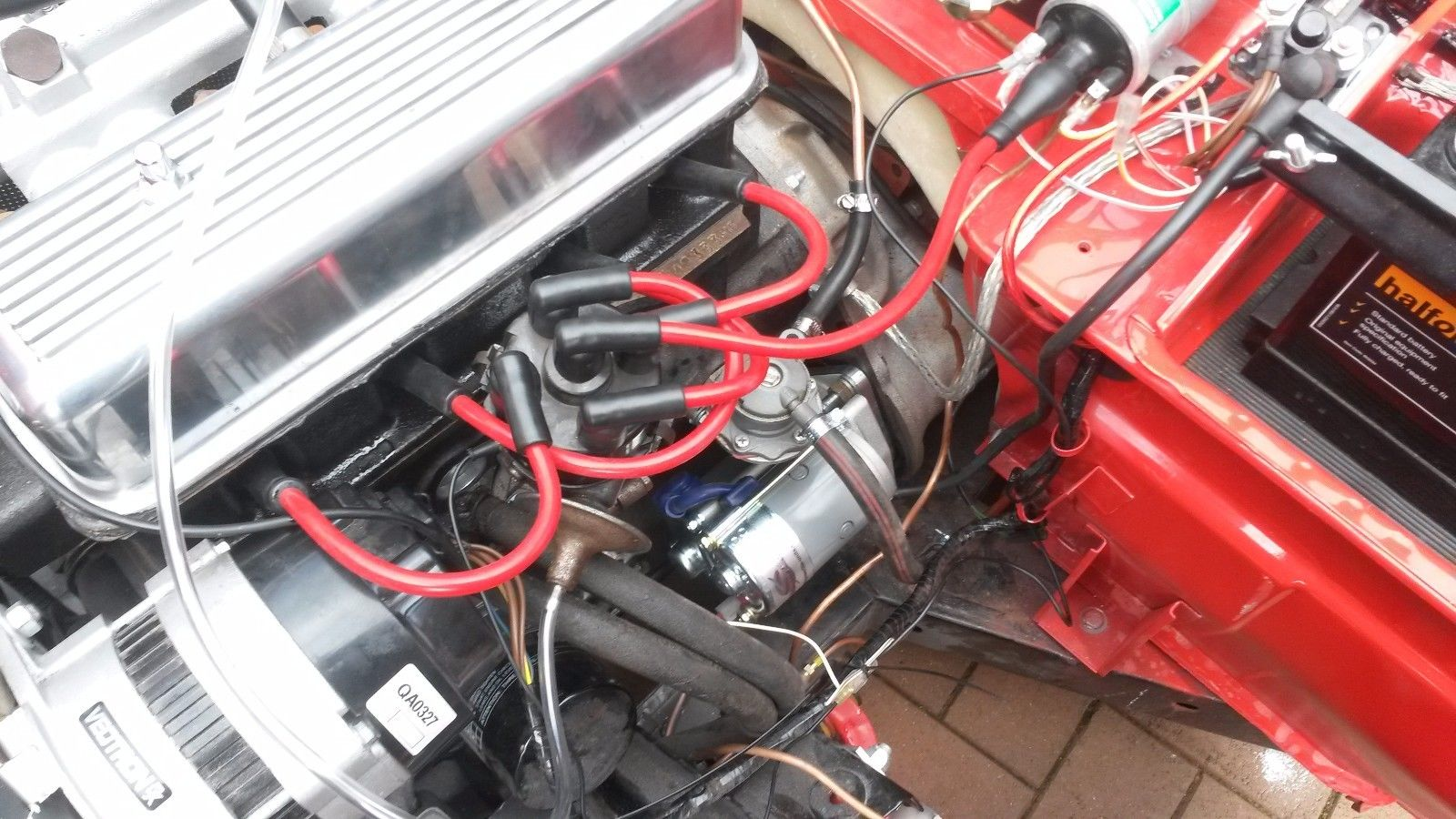 hight resolution of red 8mm performance ignition leads triumph spitfire mkiv 1 5 1 3 hand built ht