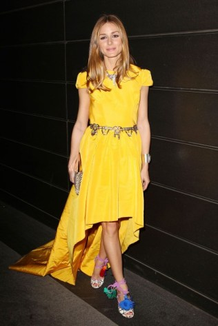 olivia-palermo-new-years-in-april-a-fools-fete-new-york-city-katie-ermilio-spring-2013-dress-zara-belt-jimmy-choo-multicolor-dream-sandals