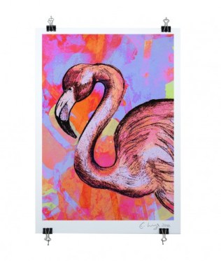 left-flamingo-on-clips-clear-cut-422x500