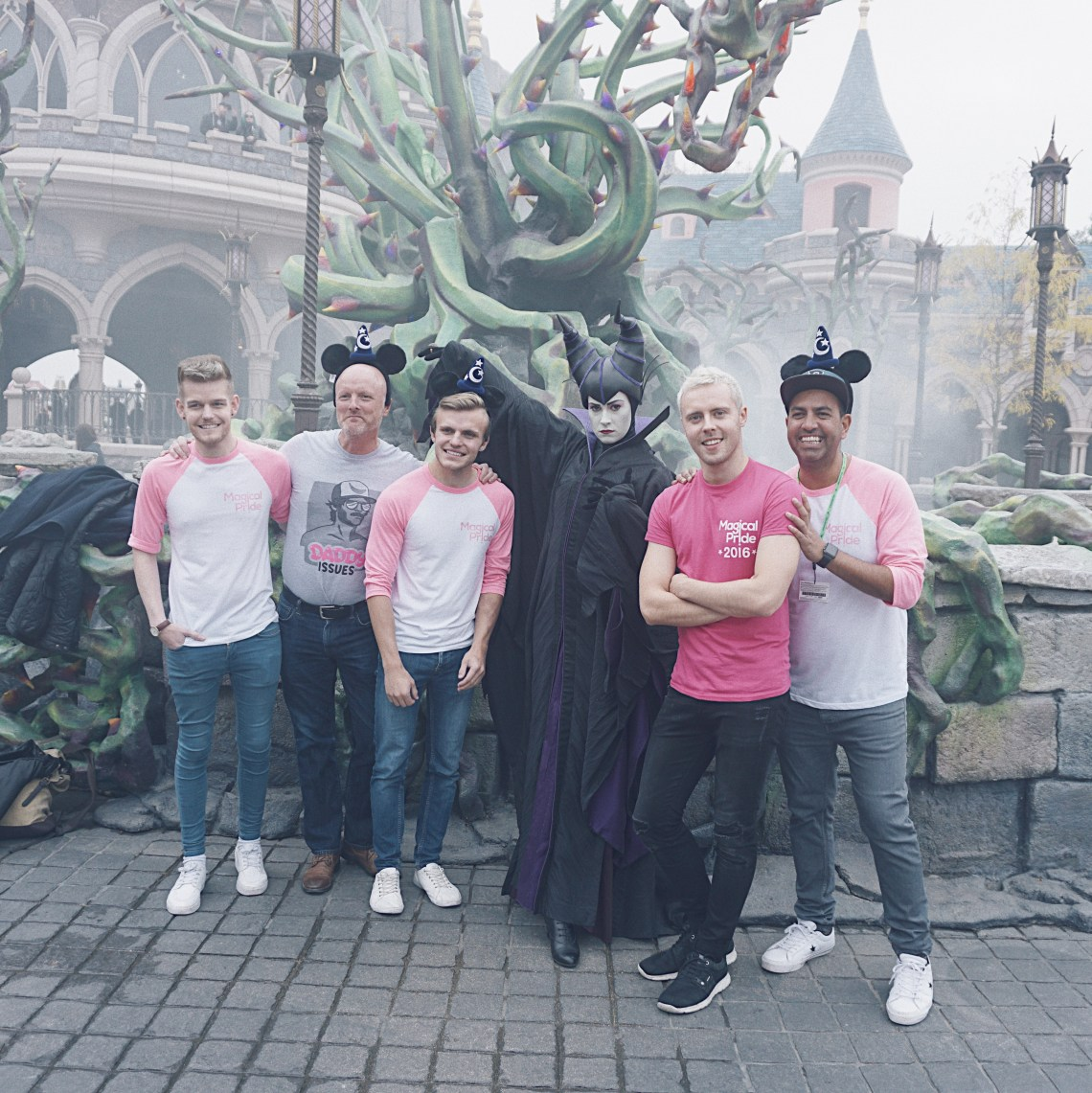 Magical Pride team with Maleficent at Disneyland® Paris.