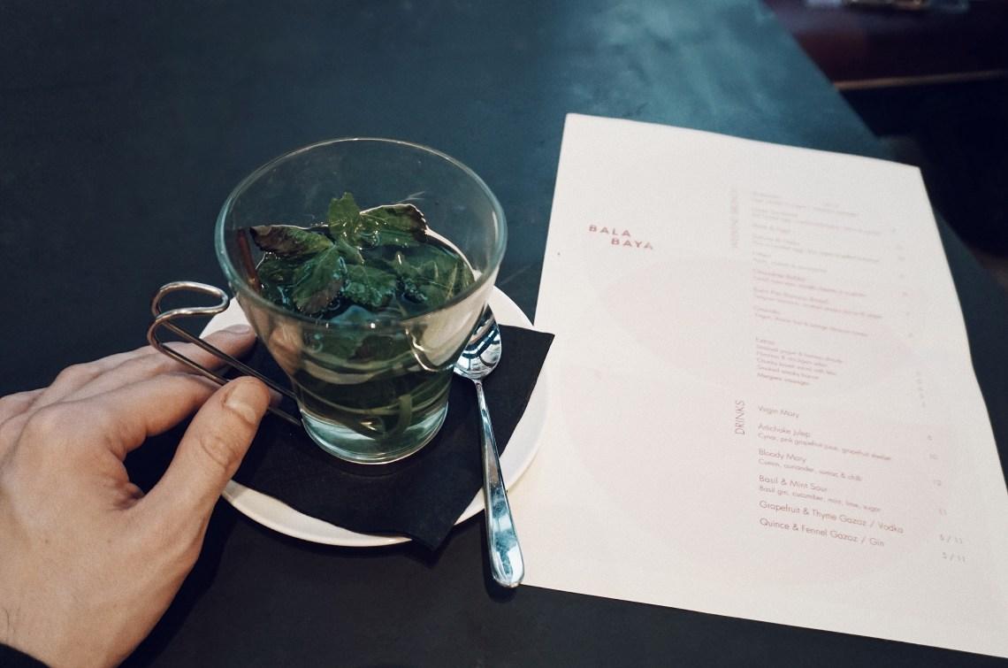 Mint tea at BALA BAYA.
