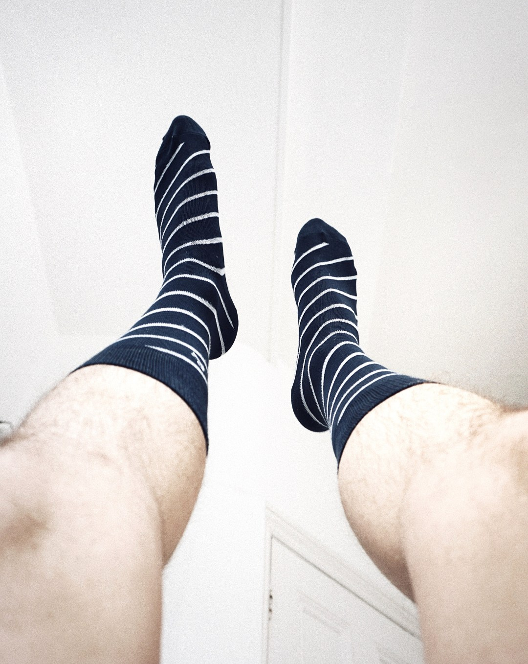 Male Inspiration hamper from Social Network Solutions. Navy/White Striped socks from Tied Together. Blog by Skirmantas Petraitis.