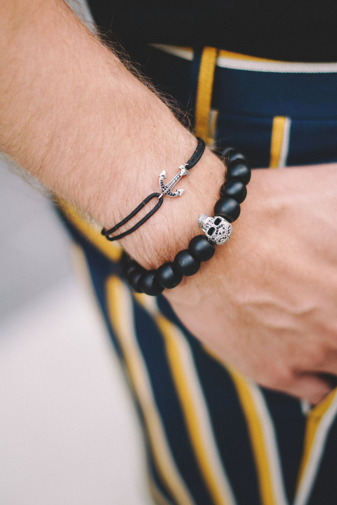 "Thomas Sabo. Featuring BRACELET ""LITTLE SECRET ANCHOR"" and BRACELET ""POWER BRACELET MAORI SKULL"". Snapped by Victoria Ambrosino. Blog by Skirmantas Petraitis."