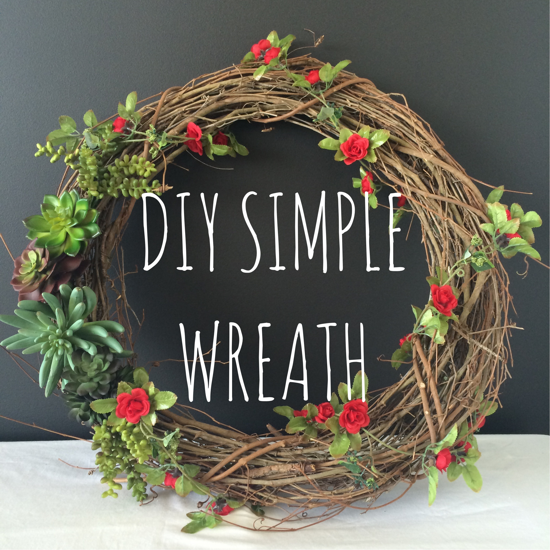 DIY Simple Wreath   Mrs Amber Apple blog