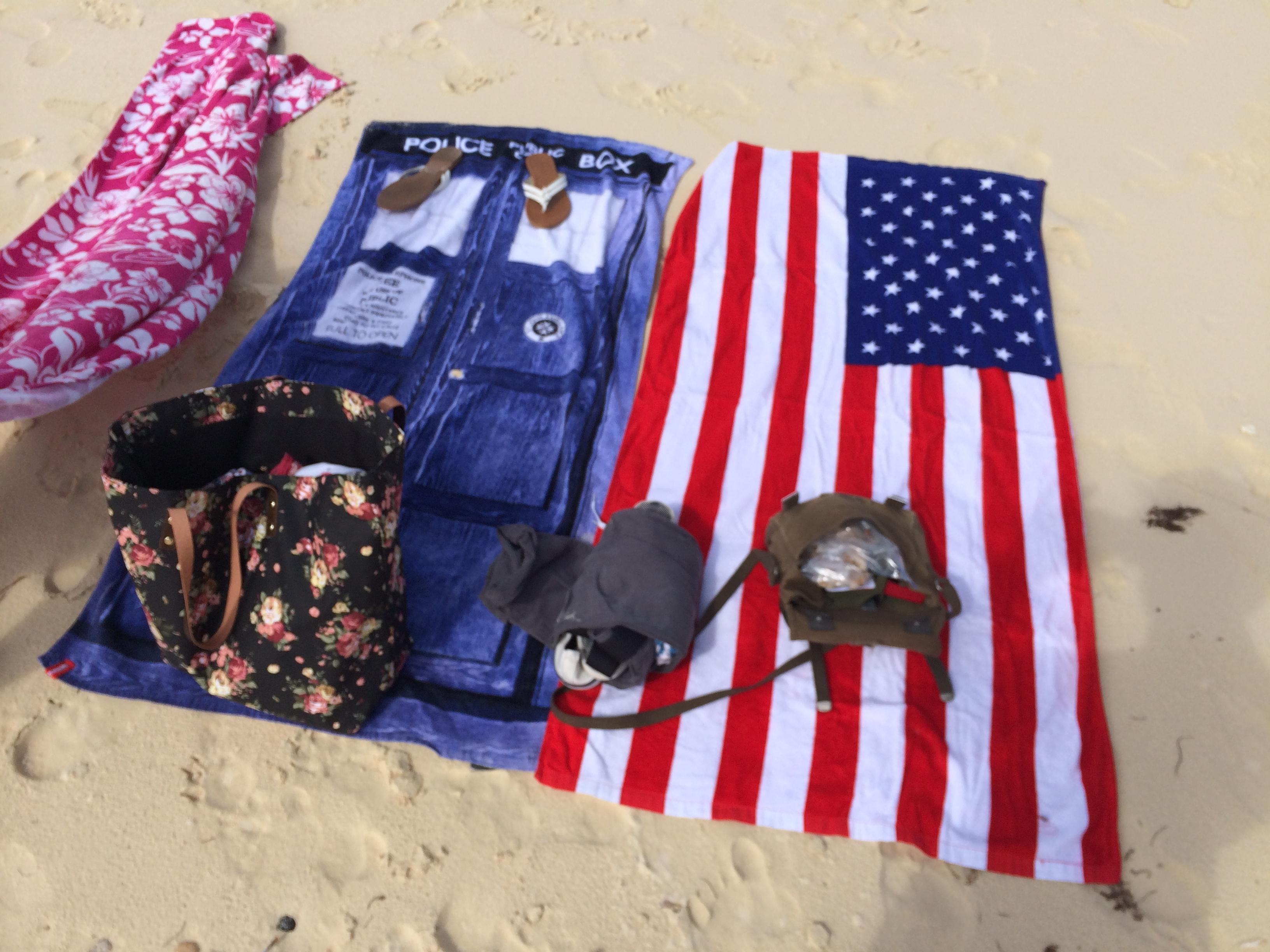 Tardis & US flag | Mrs Amber Apple blog