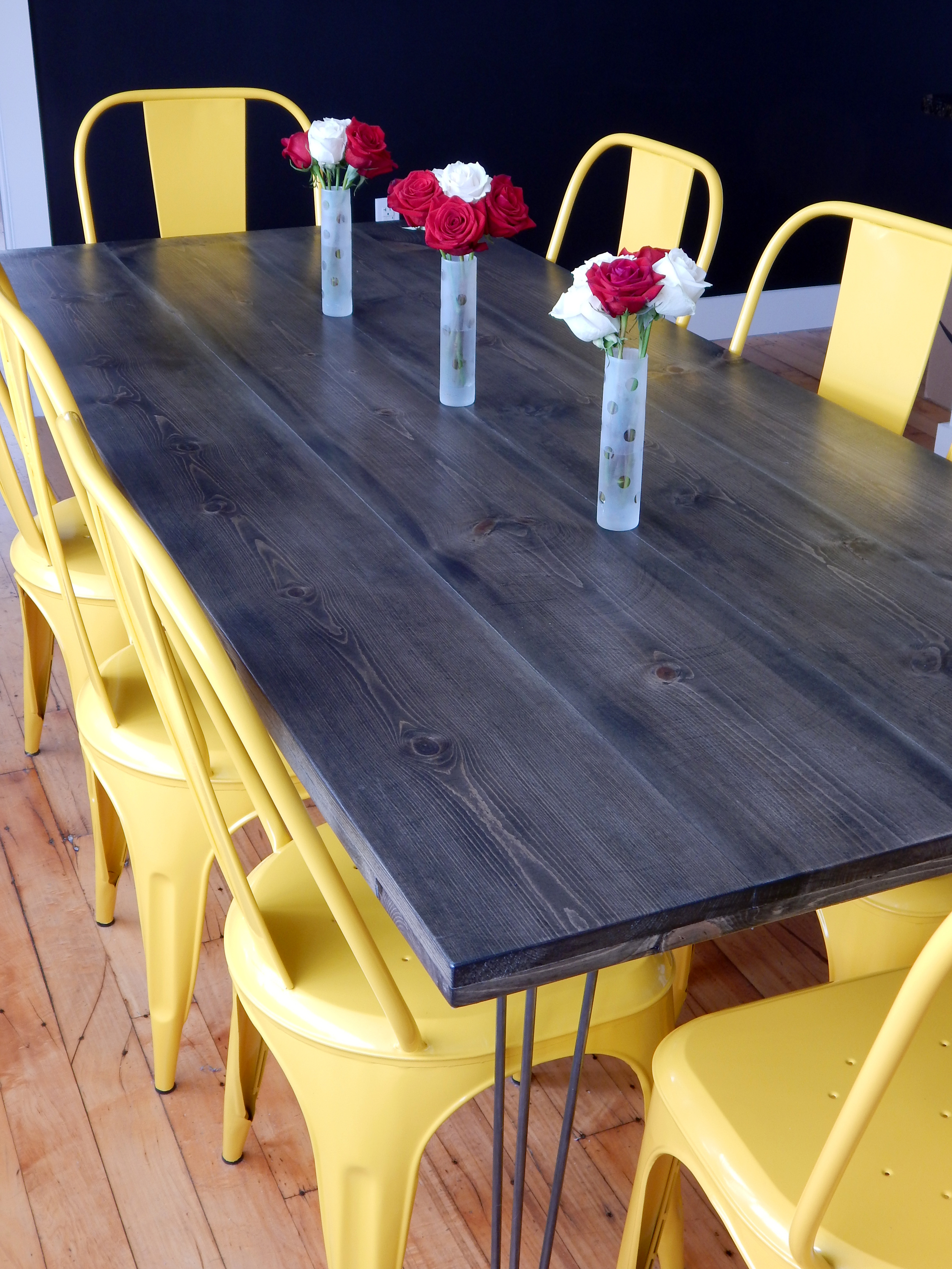 diy kitchen tables lowes cabinets sale dining table red autumn blog