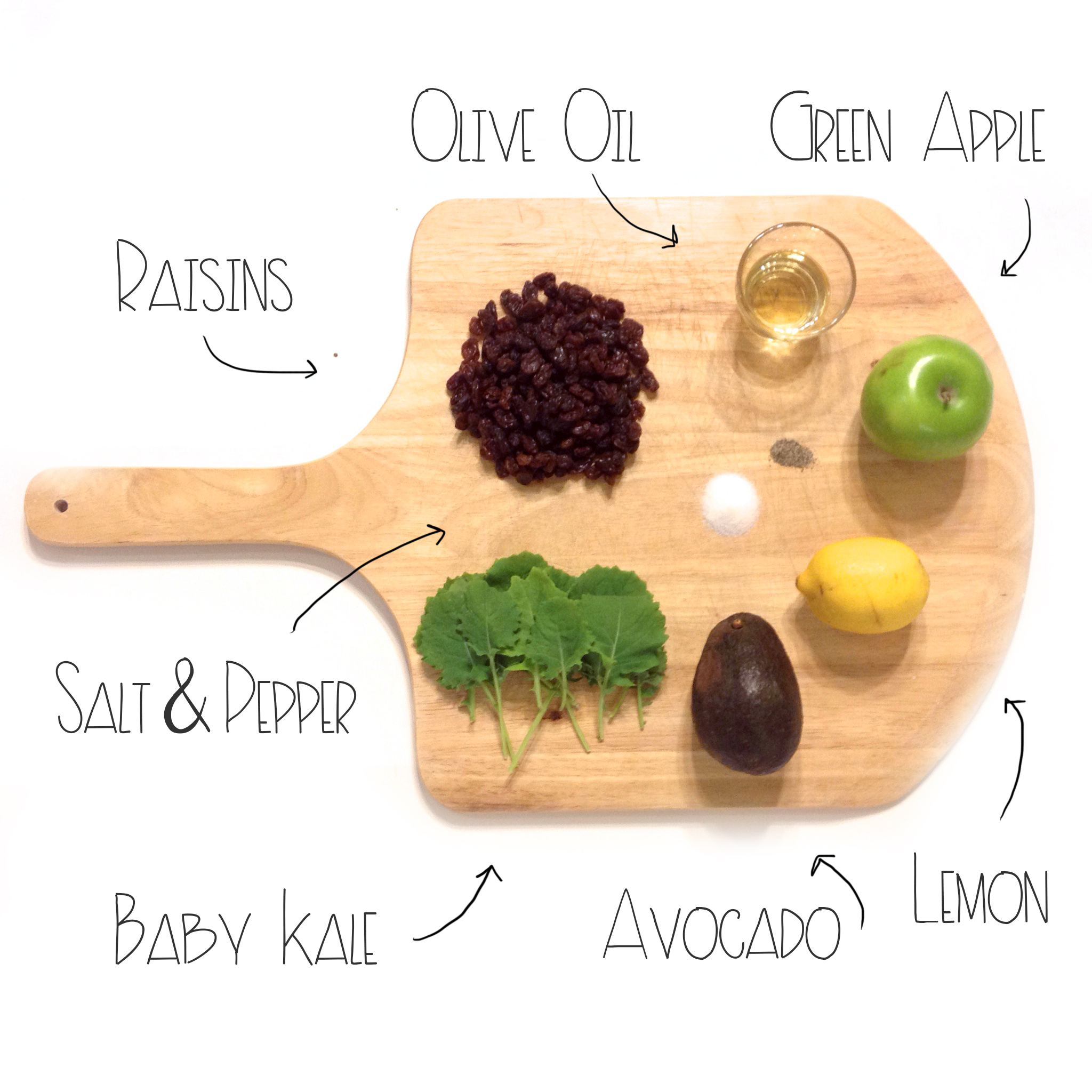 Ingredients For Kale Apple Salad | MrsAmberAppleBlog