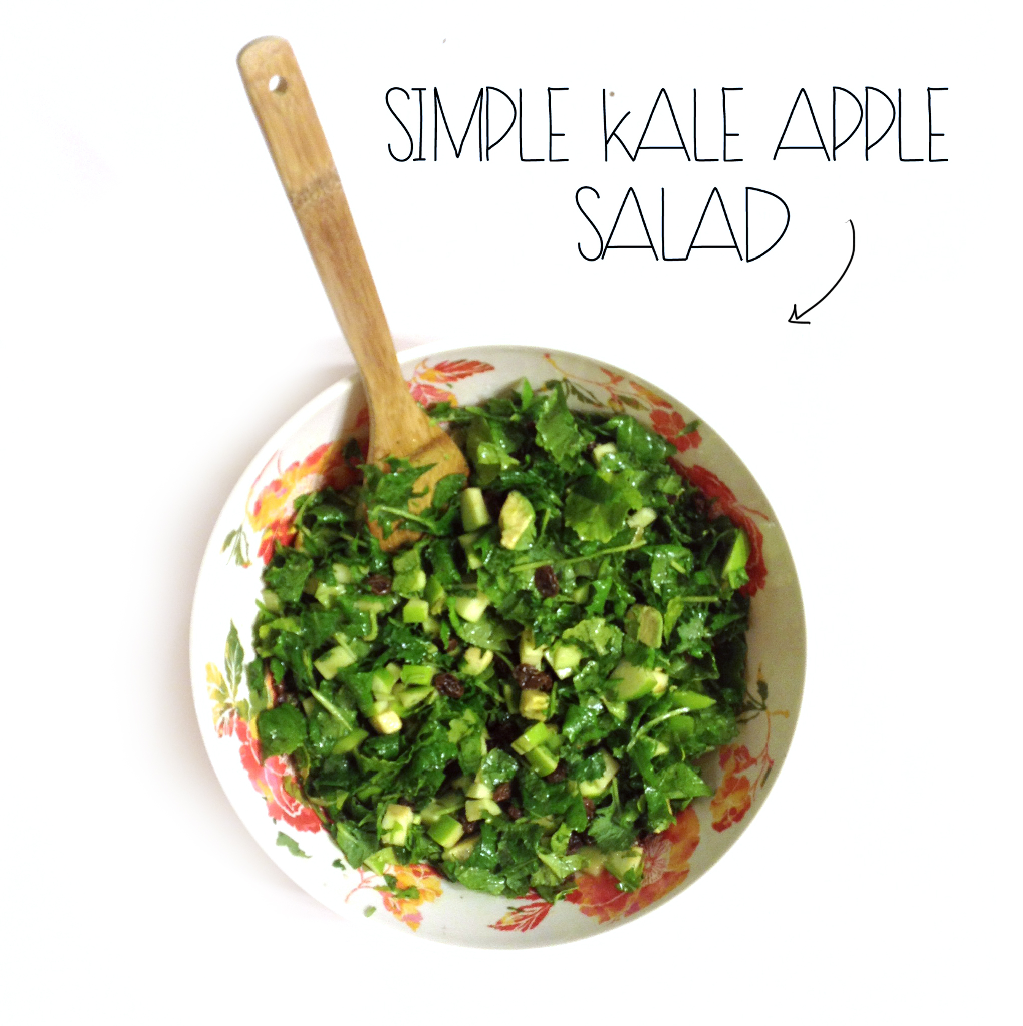 Simple Kale Salad | MrsAmberAppleBlog