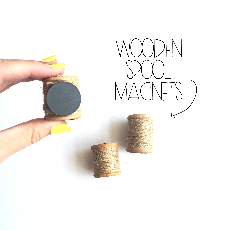 Wooden Spool Magnets   MrsAmberAppleBlog