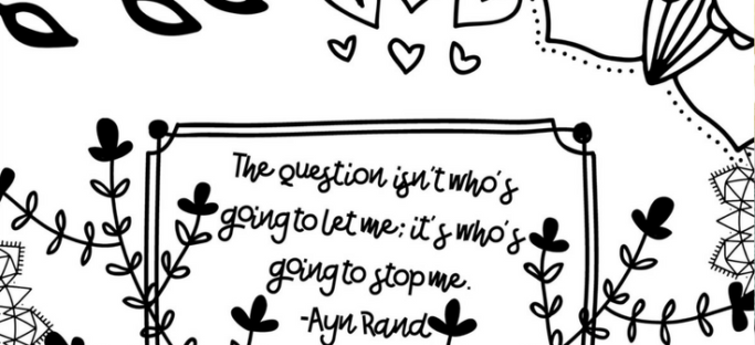 FREE Coloring Page Printable The Question Isnt Whos Going To Let Me
