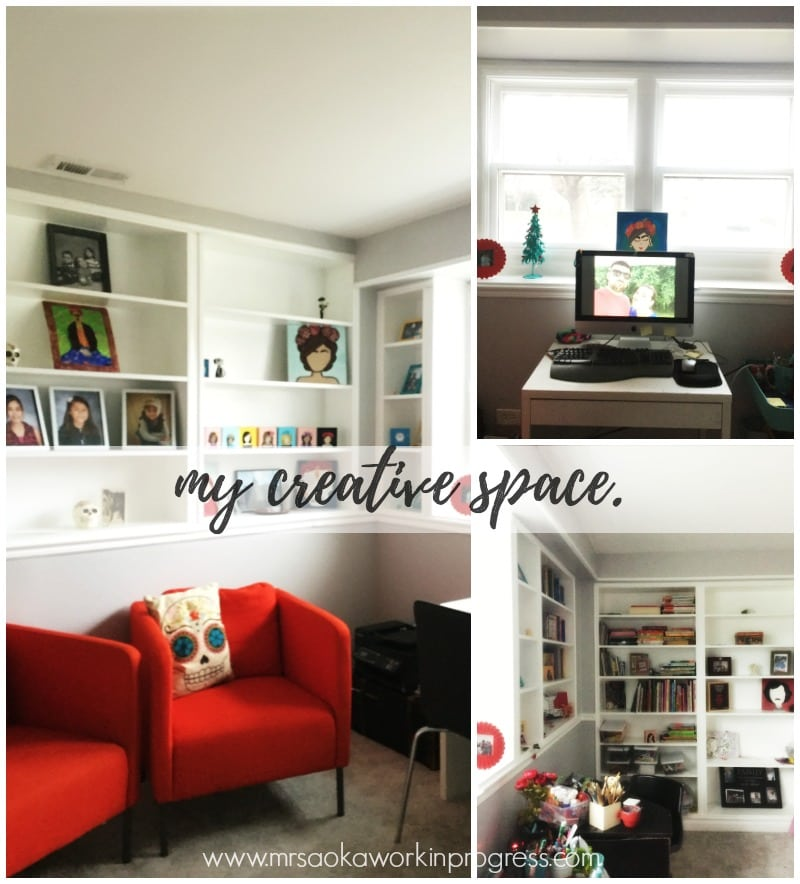 Creatively Speaking: My Creative Space, a look into my creative space physically and mentally.