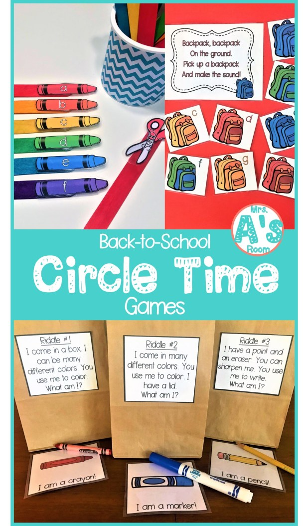 Back-to-School Circle Time Games