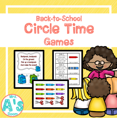 Back-to-School Circle Time Games on TPT