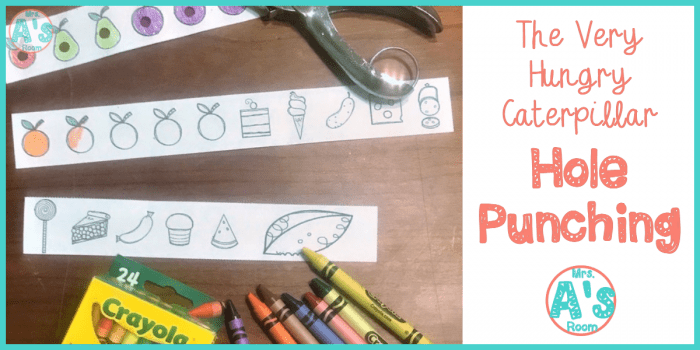The Very Hungry Caterpillar Hole Punching