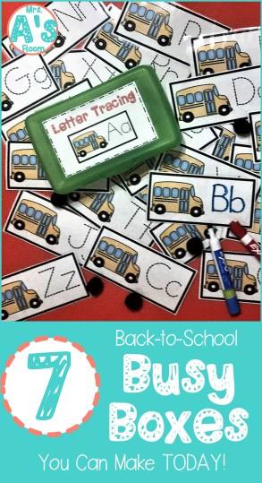 Letter Tracing Busy Box