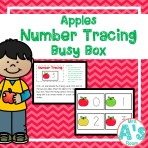 Apples Number Tracing Busy Box