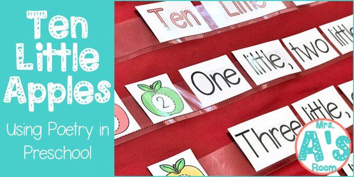 Ten Little Apples | Using Poetry in Preschool
